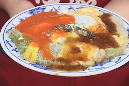 外國人最愛台灣小吃 - 蚵仔煎